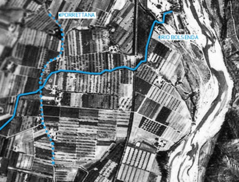 Ortofoto dell'area di San Biagio, 1954