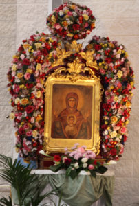 Madonna e fioriera