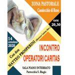 Incontro operatori caritas con don Matteo Prosperini